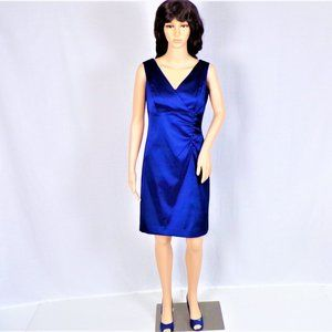 Lustrous royal-blue sheath dress size 8 sleeveless